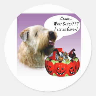 Soft Coated Wheaten Terrier Halloween Candy Sticker