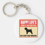 Soft Coated Wheaten Terrier Keychain