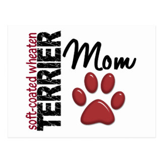 Soft-Coated Wheaten Terrier Mom 2 Postcard