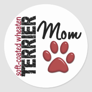 Soft-Coated Wheaten Terrier Mom 2 Stickers