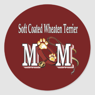 Soft Coated Wheaten Terrier MOM Gifts Round Stickers