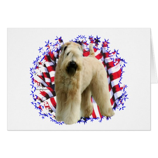Soft Coated Wheaten Terrier Patriot Card