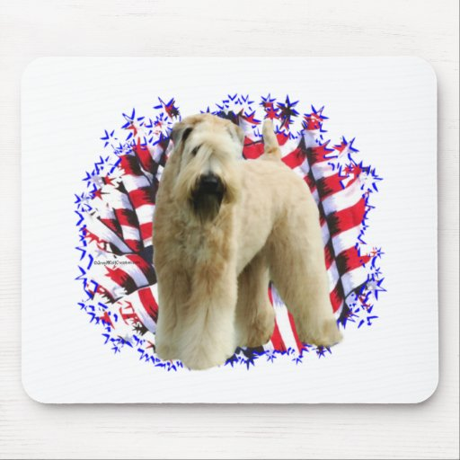 Soft Coated Wheaten Terrier Patriot Mouse Pad