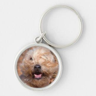 Soft Coated Wheaten Terrier portrait Keychain