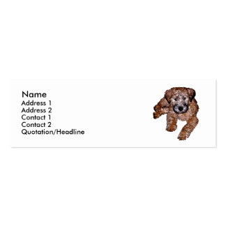 Soft Coated Wheaten Terrier Puppy Business Card Templates