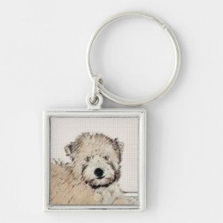 Soft Coated Wheaten Terrier Puppy Keychain