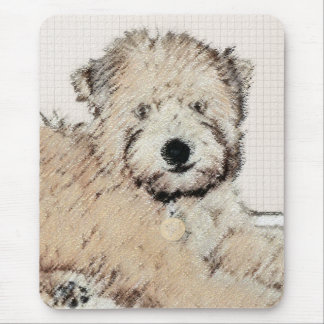 Soft Coated Wheaten Terrier Puppy Mouse Pad