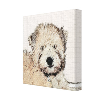 Soft-Coated Wheaten Terrier Puppy Painting Dog Art Canvas Print