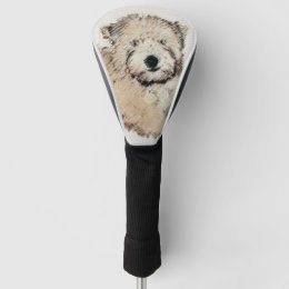 Soft-Coated Wheaten Terrier Puppy Painting Dog Art Golf Head Cover