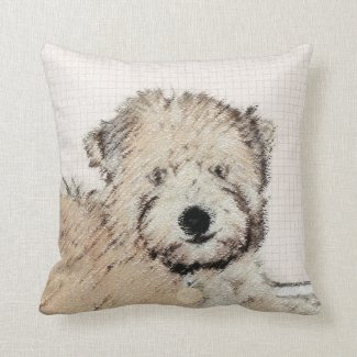 Soft Coated Wheaten Terrier Puppy Throw Pillow