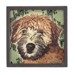 Soft-Coated Wheaten Terrier Puppy with Wet Face Premium Jewelry Boxes