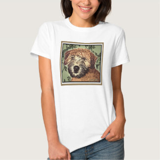 Soft-Coated Wheaten Terrier Puppy with Wet Face Shirt