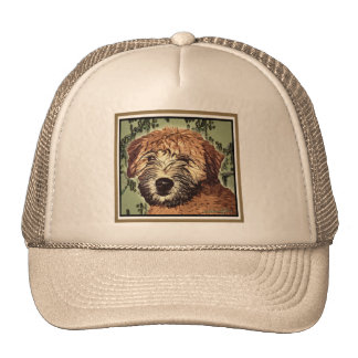 Soft-Coated Wheaten Terrier Puppy with Wet Face Trucker Hat
