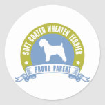 Soft Coated Wheaten Terrier Round Stickers