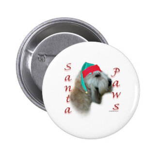 Soft Coated Wheaten Terrier Santa Paws Buttons