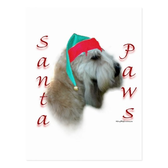 Soft Coated Wheaten Terrier Santa Paws Postcard