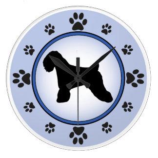 Soft Coated Wheaten Terrier Silhouette Wall Clocks