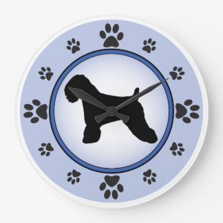 Soft Coated Wheaten Terrier Silhouette Large Clock