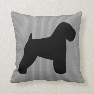 Soft Coated Wheaten Terrier Silhouette Throw Pillow