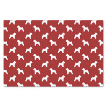 Soft Coated Wheaten Terrier Silhouettes Red Tissue Paper