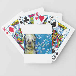 Soft Coated Wheaten Terrier smile daisies Bicycle Poker Cards