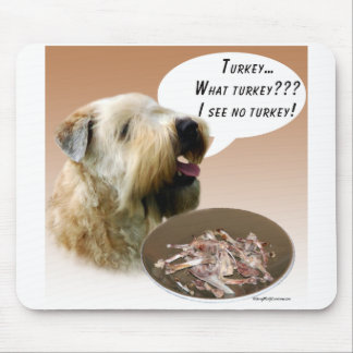 Soft Coated Wheaten Terrier Turkey Mouse Pad