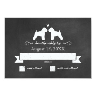 Soft Coated Wheaten Terriers Wedding RSVP Reply Card