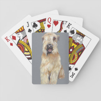 Soft coated Wheaton terrier Poker Deck