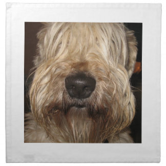 soft coated wheaton terrier.png cloth napkins
