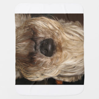 soft coated wheaton terrier.png receiving blanket