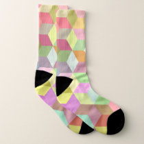 Soft color abstract pattern socks