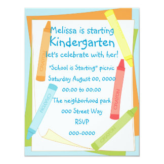 Soft-Color Crayons 4.25x5.5 Paper Invitation Card