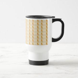 Soft Color Decorative Somber Crystal Tile Pattern Mugs