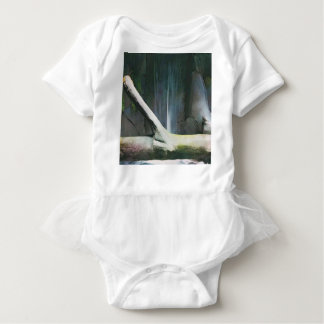 Soft Color Driftwood by Waterfall Baby Bodysuit