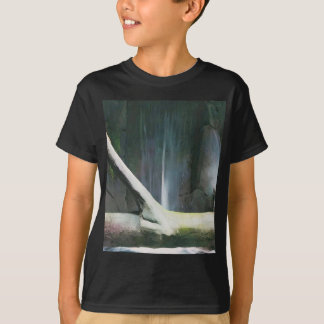 Soft Color Driftwood by Waterfall T-Shirt
