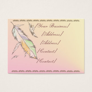 Soft Colored Feather Business Card