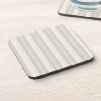 Soft Colored Greys Vertical Stripes Pattern Coasters