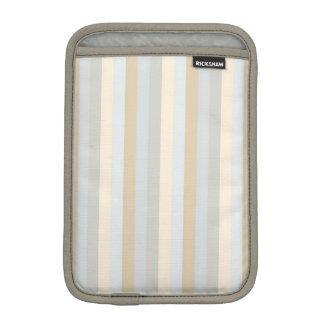 Soft Colored Greys Vertical Stripes Pattern iPad Mini Sleeve