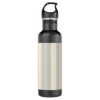 Soft Colored Greys Vertical Stripes Pattern 24oz Water Bottle