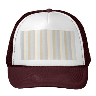 Soft Colored Greys Vertical Stripes Pattern Trucker Hat