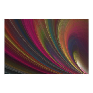 Soft Colorful Waves Poster