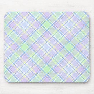 Soft Colors Plaid Mouse Pad