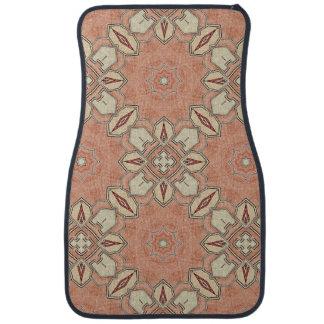 Soft colors (salmon) pattern car floor mat
