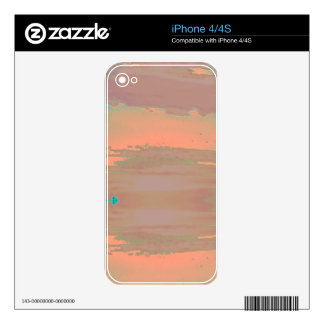 Soft Contemporary Abstract Customizable Design Decals For iPhone 4