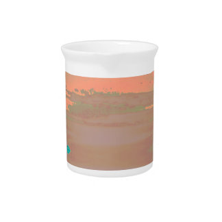 Soft Contemporary Abstract Customizable Design Pitcher