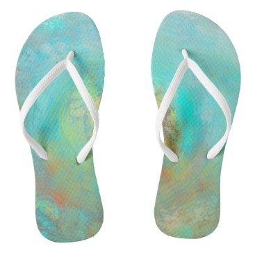 Beach Themed Soft Content No.2 Flip Flops