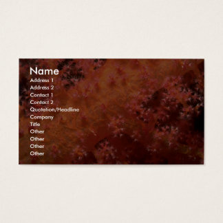 Soft coral business card