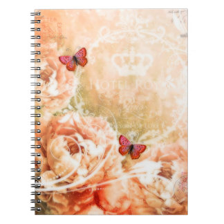 Soft coral floral notebook