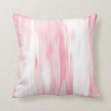 Beach Themed Soft Coral White Abstract Throw Pillow