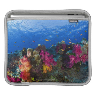 Soft corals on shallow reef, Fiji iPad Sleeve